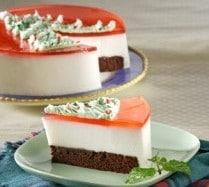 Resep Cake Cokelat Leci Strawberry – Kombinasi 3 Warna