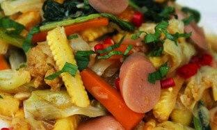 Resep Tumis Sosis Sayuran