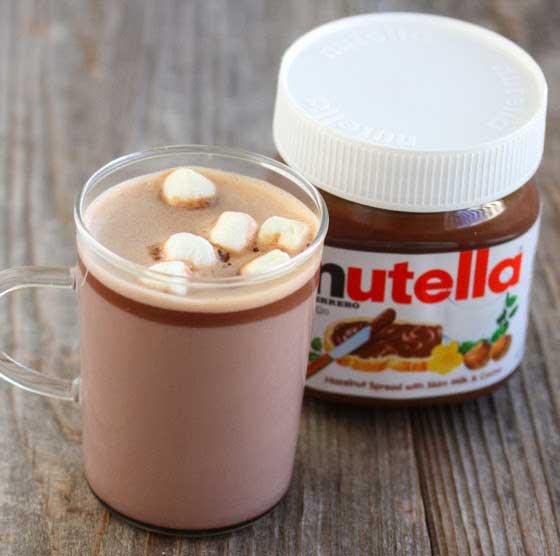 nutella hot chocolate / img: kirbiecravings.com