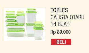 Calista Otaru Sealware Set 14 – Original – Hijau, Biru, Pink, Oranye