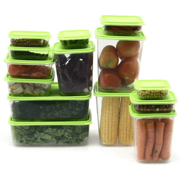 1 set untuk wadah menyimpan makanan di kulkasvia http://shop.resepkoki.co/product/calista-otaru-sealware-set-7g-14/