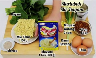 Resep Martabak Mie Bayam Saus Mayonaise
