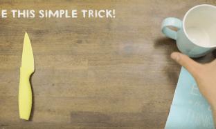 Hanya Dengan Menggunakan Gelas, Pisau Dapur Anda Akan Tajam Lagi!