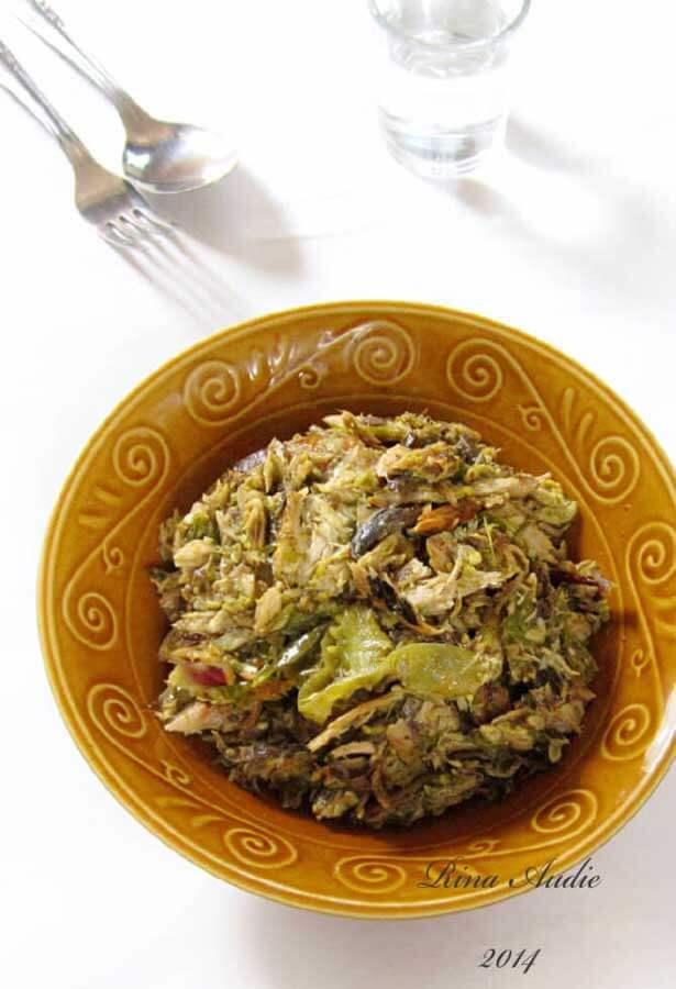 Tongkol suwir kecombrang | via rina-dapurmanis.blogspot.com
