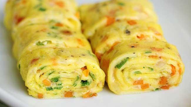 Resep Telur Gulung Isi Sayuran