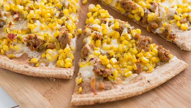 Sweet Corn Tuna Pizza