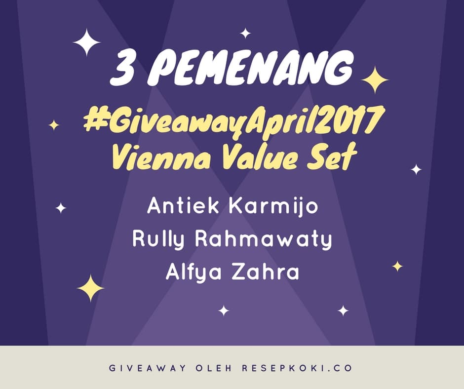 Pemenang #Giveaway April 2017
