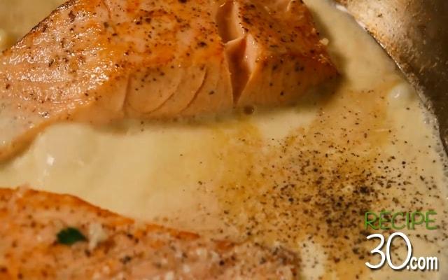 Salmon Panggang Saos Lemon