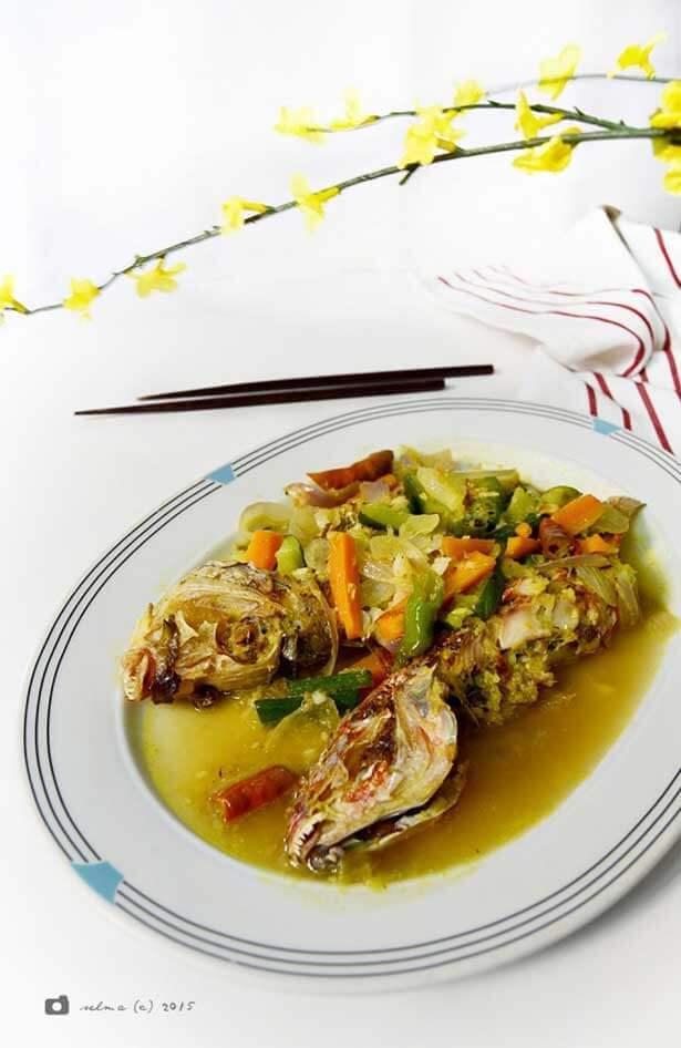 Ikan kuah acar kuning | via selmawahida.blogspot.com