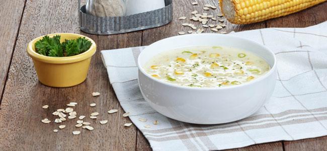 Creamy Corn Oatmeal Soup