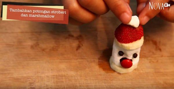 Sajian Natal: Cara Membuat Santa Marshmallow