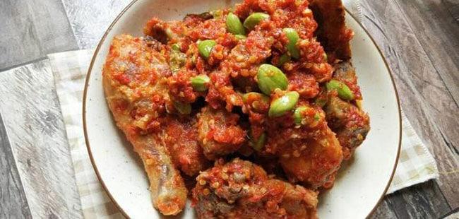 Resep Ayam Bumbu Sambal Petai