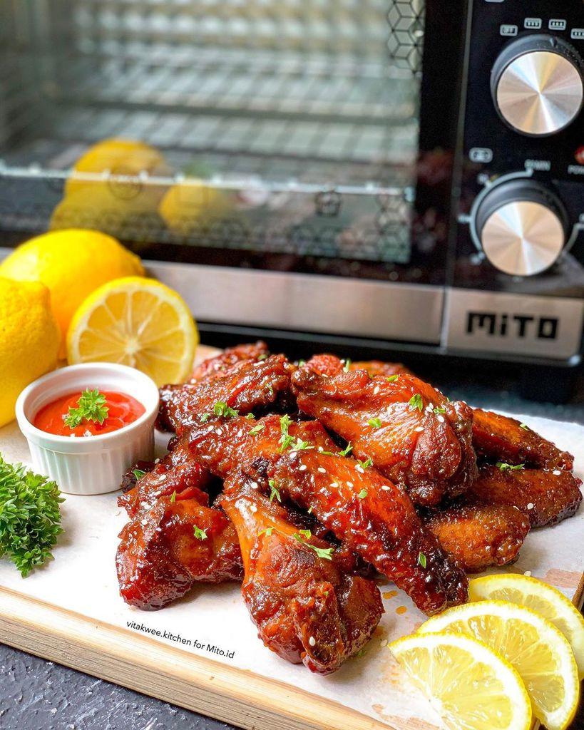 Spicy Honey Bbq Chicken Wings Resepkoki Co