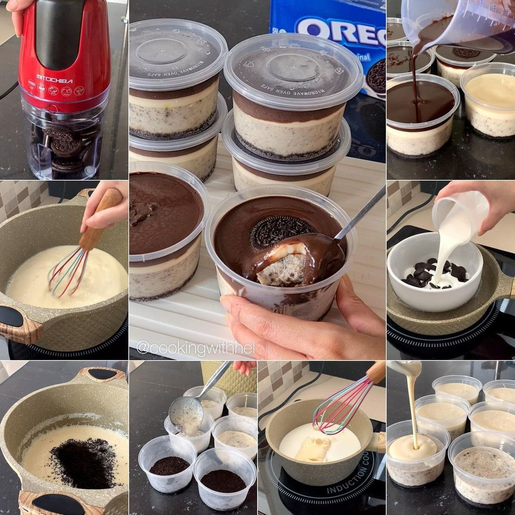 Resep Puding Oreo and Cheese Dessert Cup